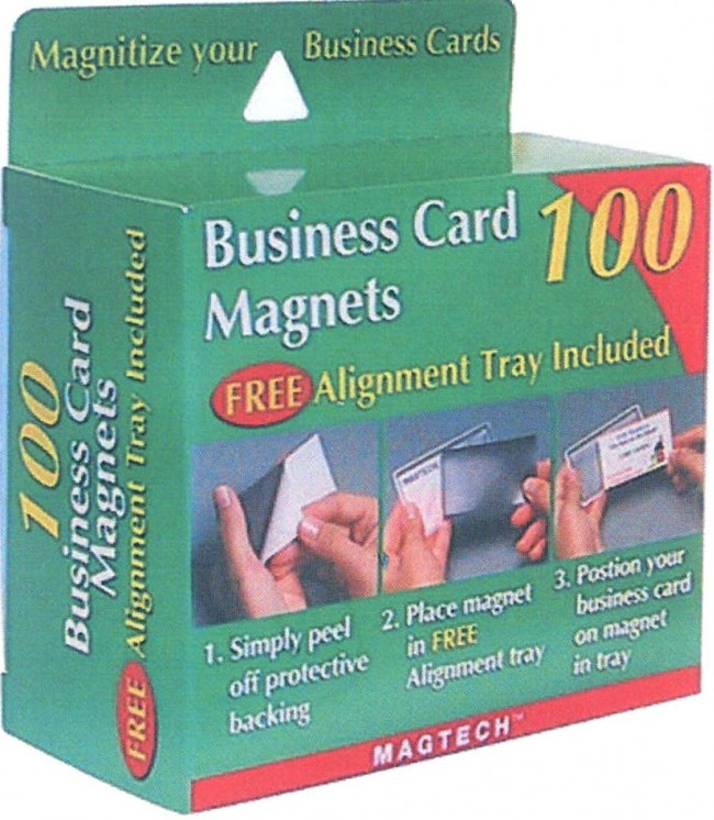 Peel and stick magnetic buisness cards 100 business cards for Business card magnets peel and stick